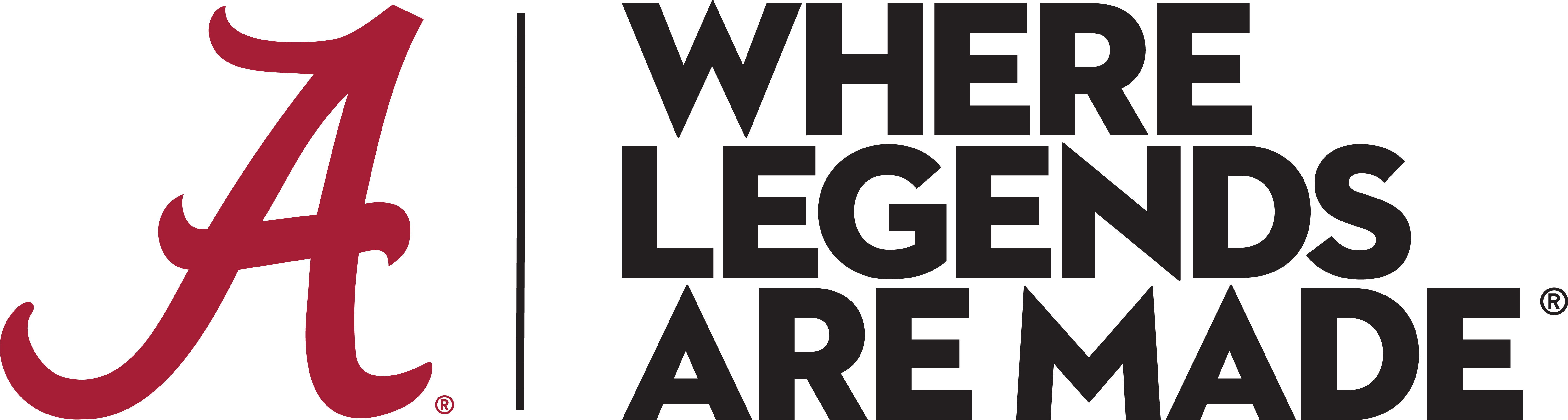 Where Legends Are Made Horizontal Logo.