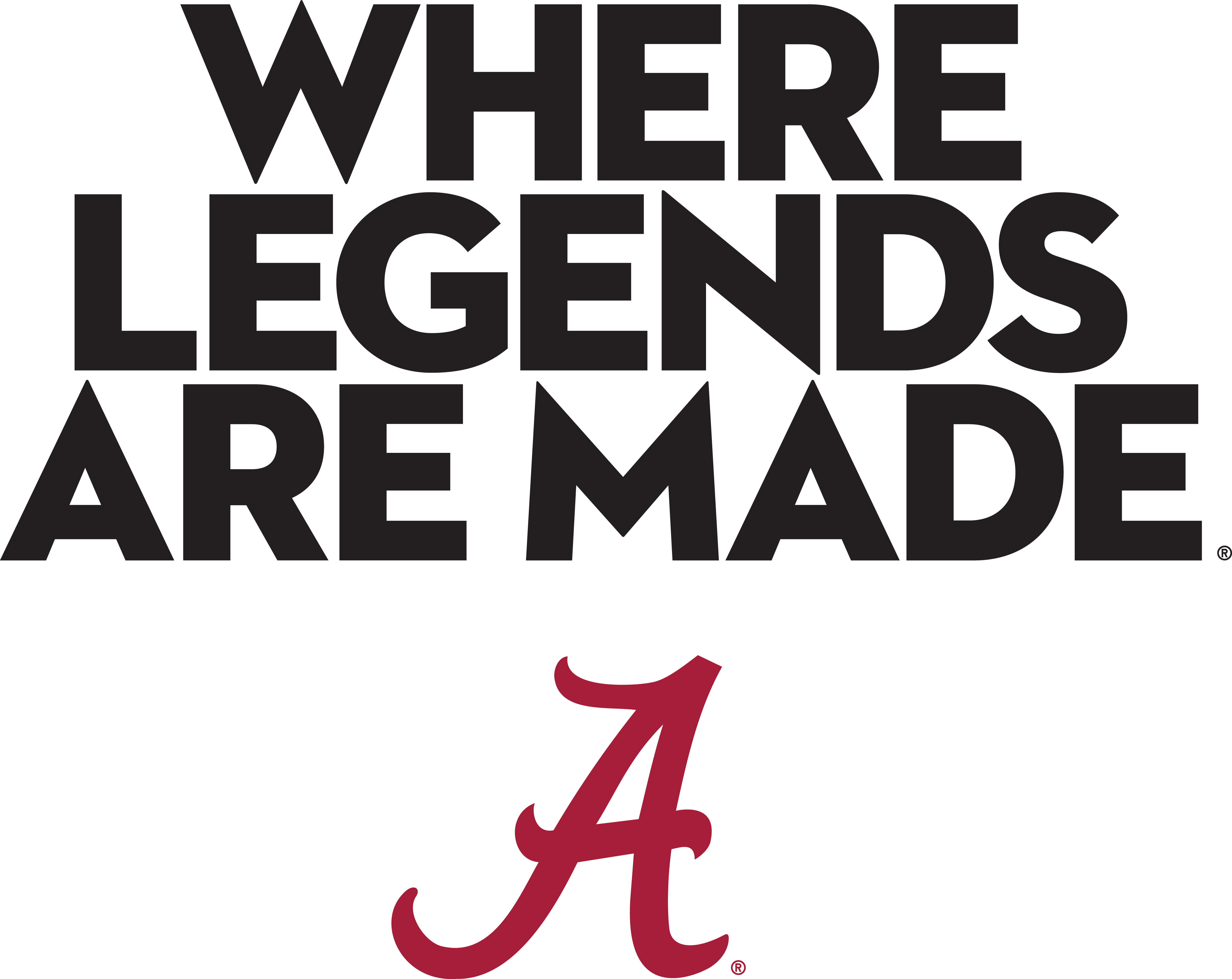 Where Legends Are Made Stacked Logo.
