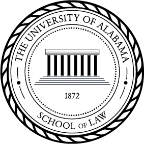 Official Seal - (Black) School of Law Identifier.