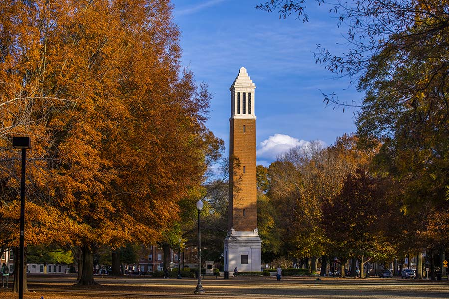 Denny Chimes on the Quad at the University of Alabama