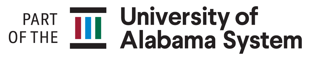 University of Alabama System Stacked Logo. 'Part of the University System'
