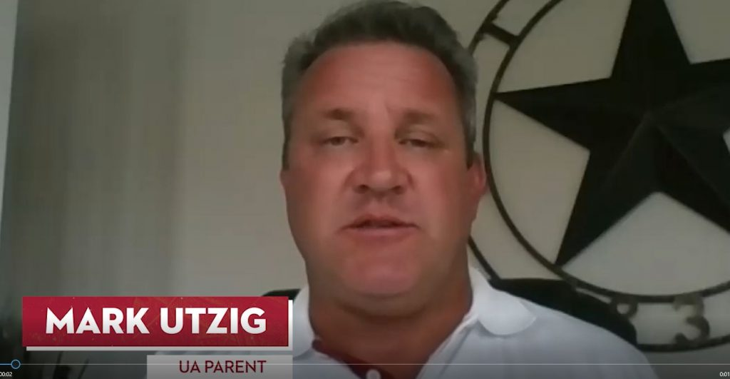 Mark Utzig, UA Parent.