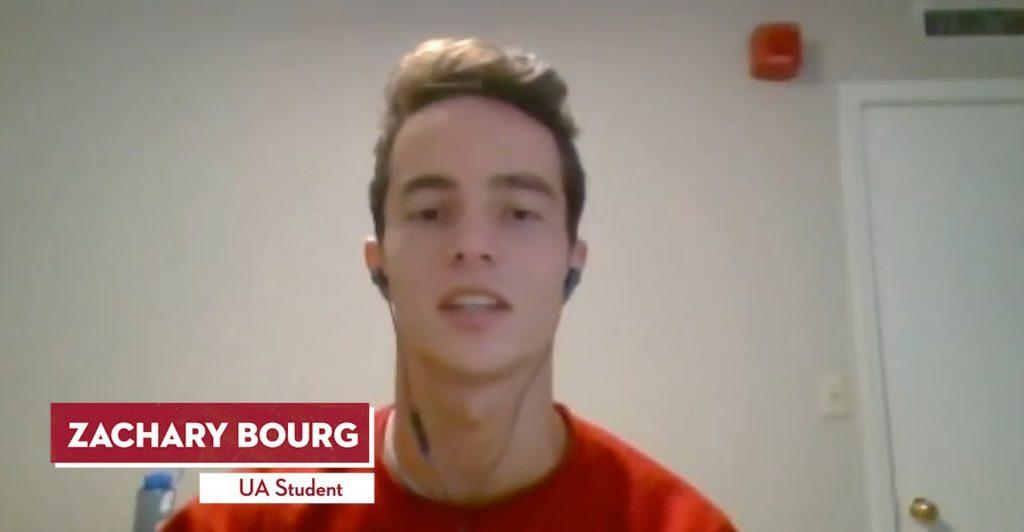 Zachary Bourg, UA Student.
